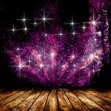 Pièce vide avec l'étoile légère et les rayons légers Photographie stock