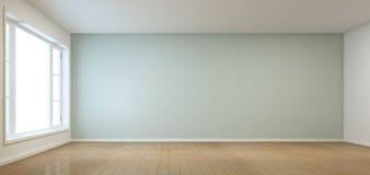 Pièce vide avec la fenêtre dans la maison moderne Photographie stock