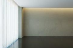 Pièce vide avec la fenêtre, rendu 3d Images stock