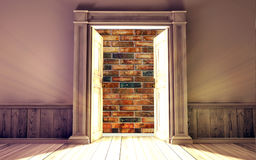 Pièce vide avec la porte ouverte Photo libre de droits