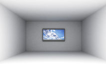 Pièce vide avec la TV illustration de vecteur