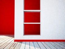 Pièce vide avec le créneau 3d illustration stock