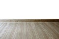 Pièce vide avec le plancher de stratifié en bois de chêne et le whi nouvellement peint Images stock