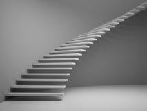 pièce vide avec le rendu de l'escalier 3D Photos stock