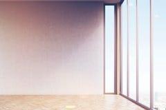 Pièce vide avec les murs gris, modifiés la tonalité illustration stock