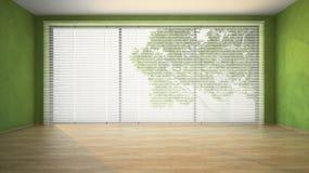 Pièce vide avec les murs verts Image stock
