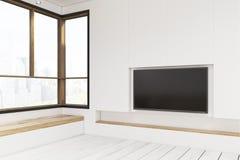 Pièce vide avec un plasma TV illustration libre de droits