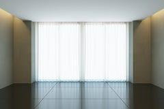 Pièce vide de bureau avec la fenêtre Photographie stock libre de droits