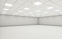 Pièce vide large abstraite 3d intérieur de bureau Photographie stock libre de droits
