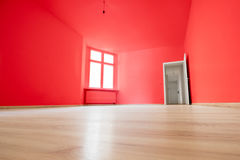 Pièce vide, plancher en bois en nouvel appartement Images stock