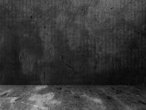 Pièce vide sombre dans le style grunge, 3d Images libres de droits