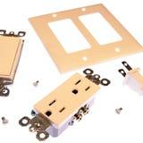 Pièces électriques Image stock