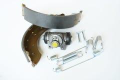 Pièces arrières de frein d'axe de voiture Image stock