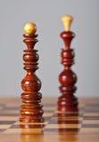 Pièces d'échecs à bord Photos stock