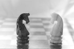 Pièces d'échecs photo libre de droits