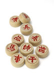 Pièces d'échecs chinoises Image libre de droits