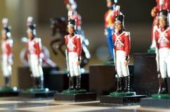 Pièces d'échecs de soldat Photographie stock