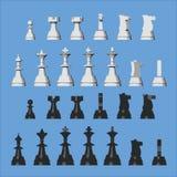 Pièces d'échecs de vecteur de différentes vues Photographie stock