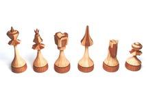Pièces d'échecs en bois Illustration Stock
