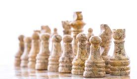 Pièces d'échecs en pierre II Photo libre de droits