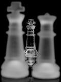 Pièces d'échecs en verre Photo stock