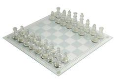 Pièces d'échecs en verre Photo libre de droits