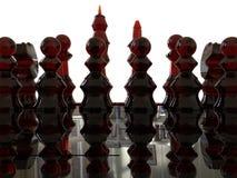 Pièces d'échecs en verre rouges illustration libre de droits