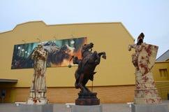Pièces d'échecs géantes, Warner Bros Studio Images libres de droits