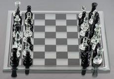 Pièces d'échecs mélangées Photographie stock libre de droits
