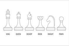 pièces d'échecs réglées Images stock