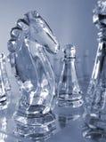 Pièces d'échecs - stratégie Photos stock