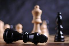Pièces d'échecs sur le panneau Images libres de droits