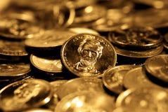 Pièces d'or Image libre de droits