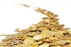 Pièces d'or Photo libre de droits