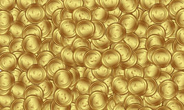 Pièces d'or Image stock