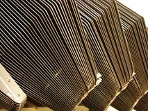 Pièces d'acier brut empilées Photos stock