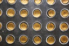 Pièces d'or au musée de Louxor chez l'Egypte Images libres de droits