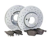 Pièces d'auto freins Images stock