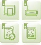 Pièces d'ordinateur Illustration de Vecteur