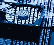 Pièces d'ordinateur de stockage de données Images libres de droits
