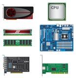 Pièces d'ordinateur réglées Photo stock
