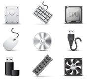 Pièces d'ordinateur | Série de B&W Photos stock