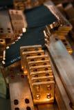 Pièces de cuivre pour l'équipement de production Photo libre de droits