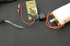 Pièces de dispositif électrique Photographie stock