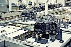 Pièces de fabrication pour la boîte de vitesses Photographie stock
