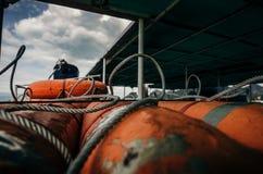Pièces de ferry en plan rapproché Photographie stock