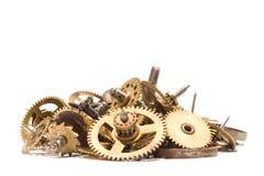 Pièces de l'horloge cassée (1) Image stock