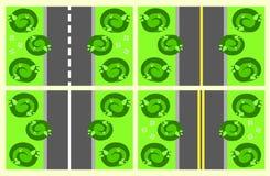 Pièces de la route sans couture illustration de vecteur