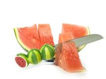 Pièces de melon Images stock