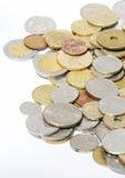 Pièces de monnaie étrangères Images stock